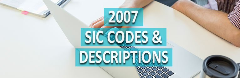 2007 SIC Codes & Descriptions