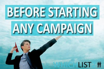 Before starting an marketing campaign
