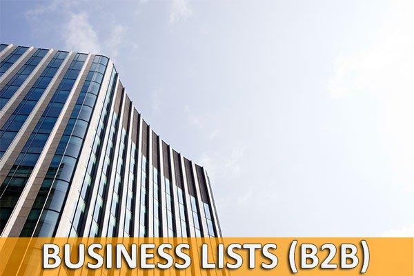 Business Lists - B2B Lists