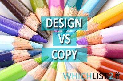 Design vs Copy