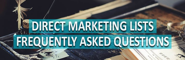 Direct Marketing List FAQs
