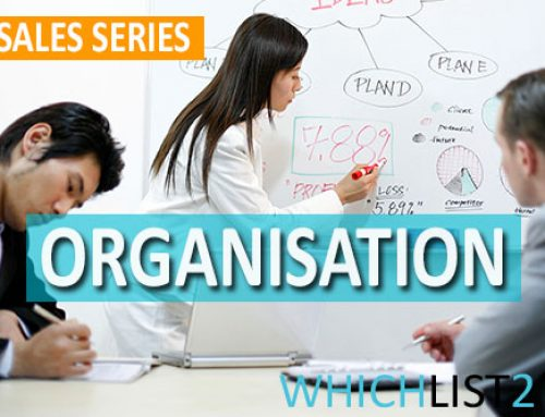 Organisation – Sales Series Part 7